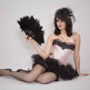 Burlesque with Black Fan