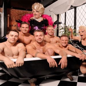 Adonis Cabaret Men in Bathtub