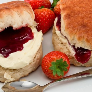 Afternoon Tea with Scones Cream and Jam