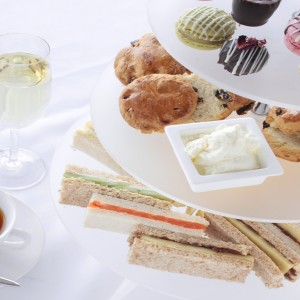 Afternoon Tea with Finger Sandwiches, Scones and Cake