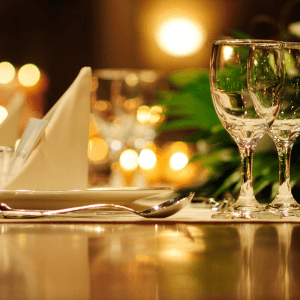 2/3 Course Meal Set Table