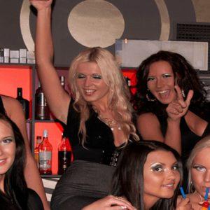 Five Girls Enjoying a Nightclub