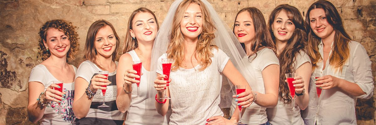 Group of Women out on a Brighton Hen Weekend