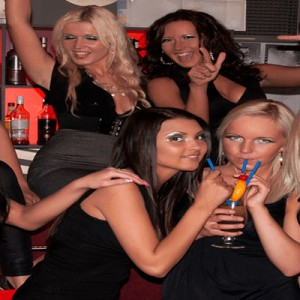 Group of Girls at a Hen Party Enjoying a Nightclub