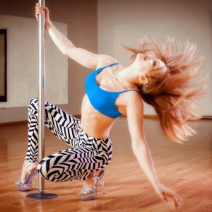 Woman on Pole Dancing