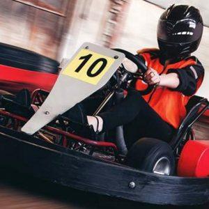 Woman Enjoying her Indoor Go Karting Experience