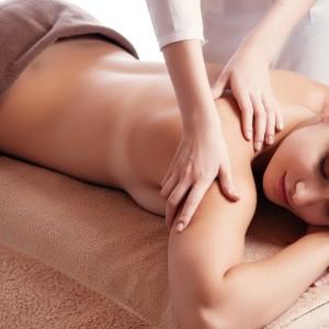 Woman Having a Massage