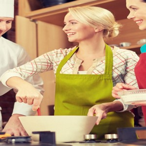 Women in a Cookery Class
