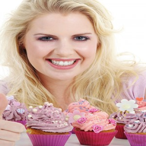 Blonde with Recently Made Cupcakes