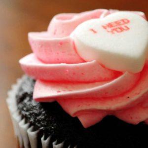 Cup Cake with I Need You Heart Shape