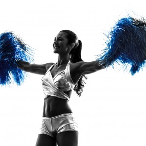 Cheerleader with Blue Balls